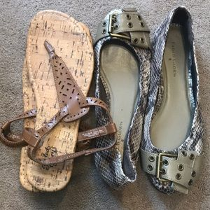 2 pairs of shoes from Faded Glory